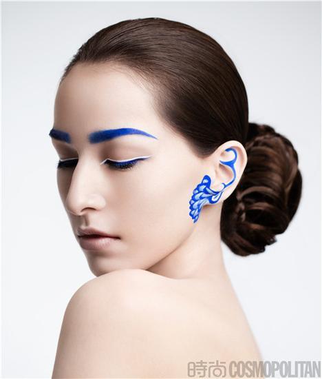 青花瓷妆容图片