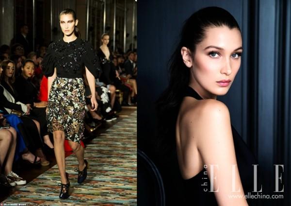 左图:Dior 2017早春秀 右图:Dior公布Bella代言彩妆系列
