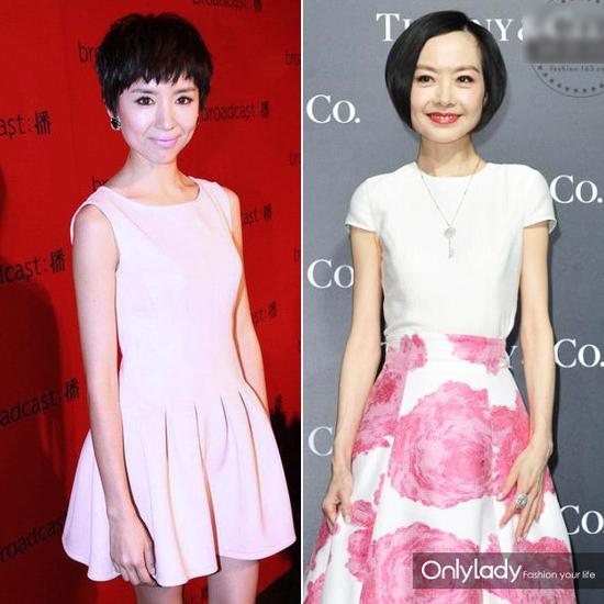 中国女星容易穿出大头娃