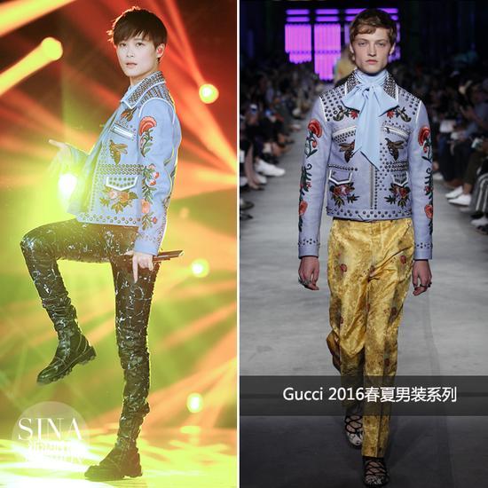 李宇春穿Gucci2016春夏男装
