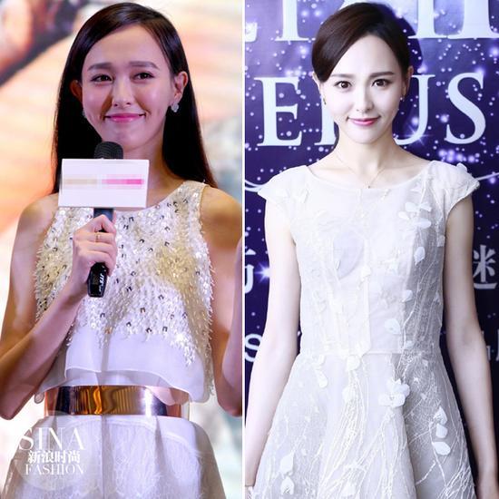 唐嫣穿小白裙