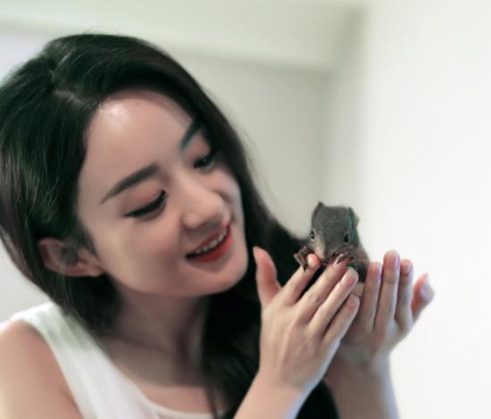 赵丽颖可爱笑容