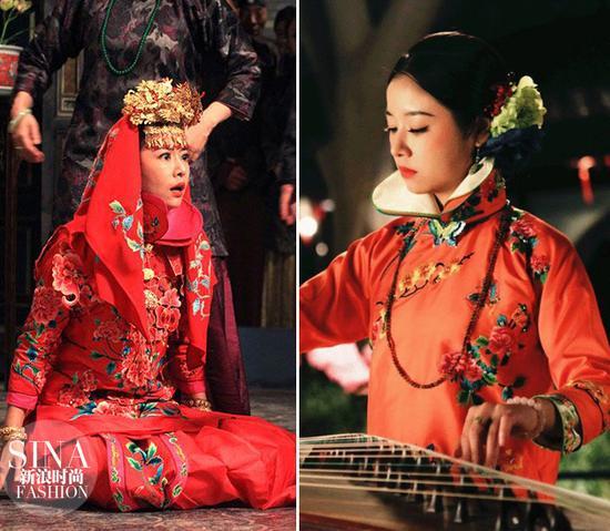 在惊悚片《京城81号》里也曾穿新娘装