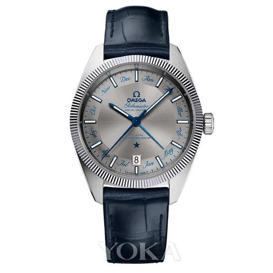 欧米茄星座系列尊霸年历腕表,63000元。