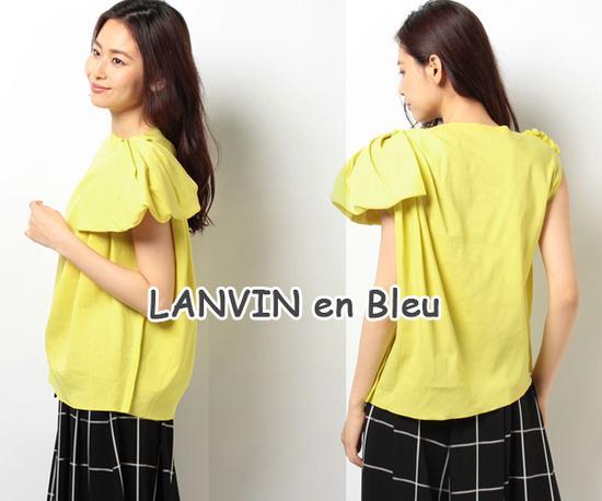 ☆LANVIN en Bleu黄色上衣