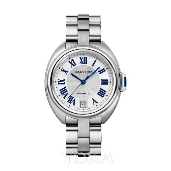 卡地亚Clé de Cartier腕表18K白K金腕表