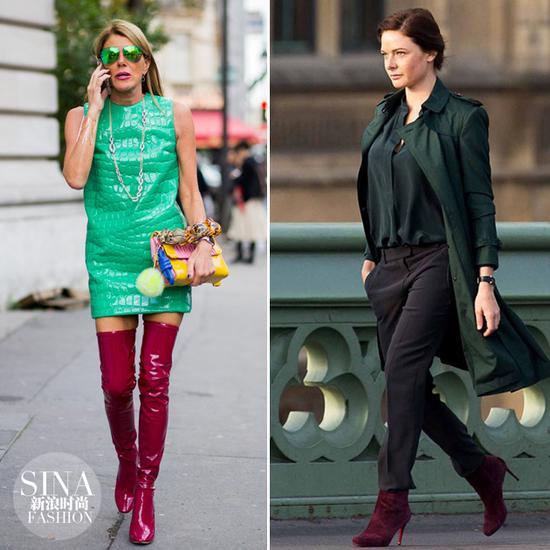 时装精示范红配绿