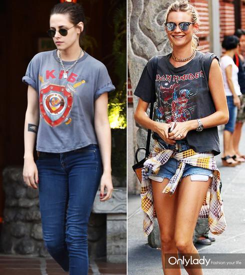 可以像Kristen Stewart和Behati Prinsloo一样戴摇滚巨星都爱的链条Choker、短项链