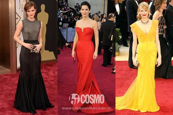 Emma Watson、Sandra Bullock、Michelle Williams