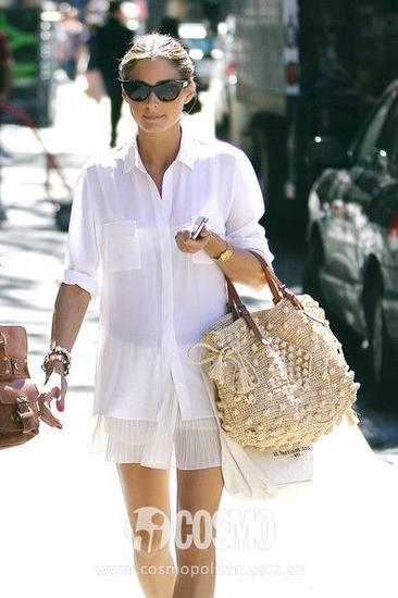 名媛Olivia就有好几件白衬衣都是Equipment的