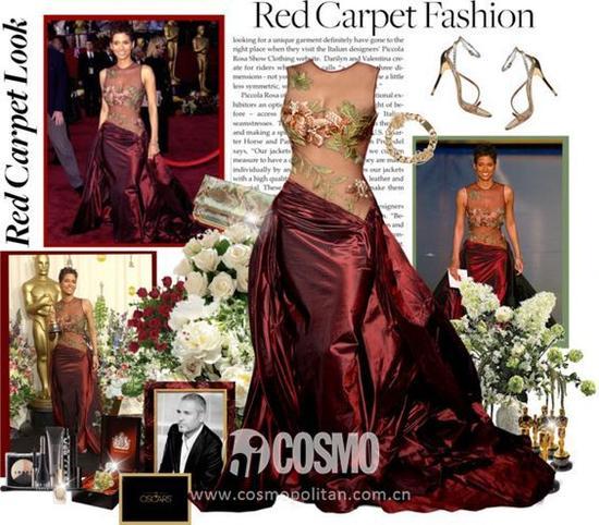 2002年Halle Berry身着Elie Saab设计的晚装赢得奥斯卡小金人