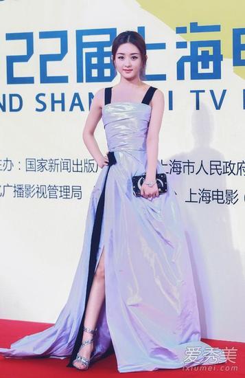 赵丽颖亮相上海电视节