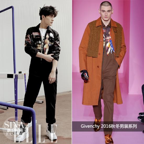 杨洋穿Givenchy拍杂志