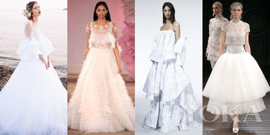 Costarellos Spring 2017; Ines di Santo Bridal Spring 2017; Maticevski Fall 2016; Naeem Khan Bridal Spring 2017