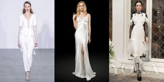 Antonio Berardi Fall 2016; Elizabeth Fillmore Bridal Spring 2017; Houghton Bridal Spring 2017
