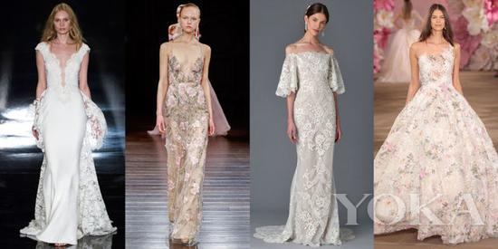 Reem Acra Bridal Spring 2017; Naeem Khan Bridal Spring 2017; Marchesa Bridal Spring 2017; Ines di Santo Bridal Spring 2017