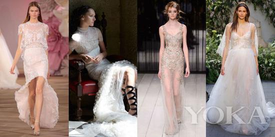 Ines di Santo Bridal Spring 2017; Vera Wang Bride Spring 2017; Alexander McQueen Fall 2016; Monique Lhuillier Bridal Spring 2017