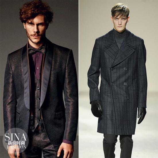 复古风的男士西服大衣