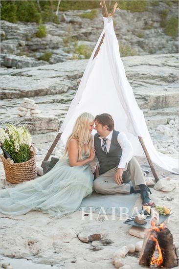 海边浪漫的结婚纪念日