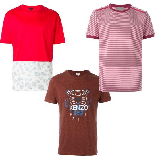 红色T恤单品推荐