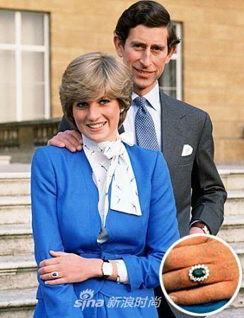 戴安娜王妃与查尔斯王子订婚戒指