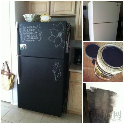 用黑板材质的颜料彻底做一个留言板呢?会不会太有创意了一些?