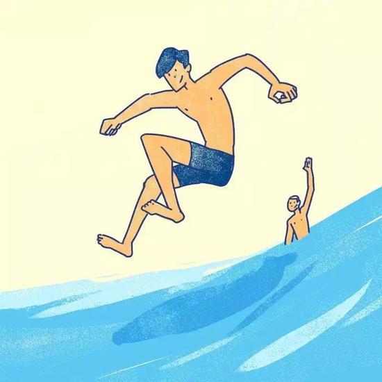 既然穿上了这么专业的泳裤,那么,请一定要游得快些