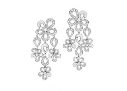 宝格丽 (Bulgari) 白金珍珠母贝钻石耳环