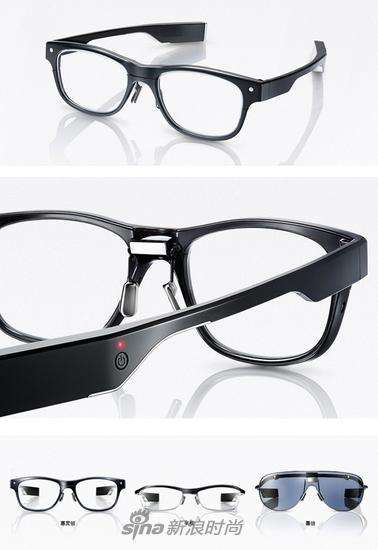 这种智能眼镜目前市面上已经有很多,图为日本眼镜品牌 JINS(睛姿)之前发布的智能眼镜 JINS MEME,有基础版和运动版,价格在1k-3k之间。