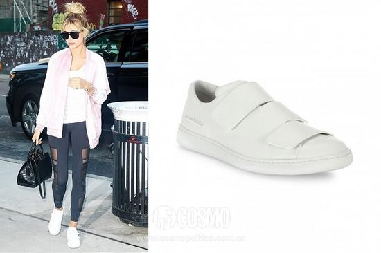 Hhailey Baldwin   Acne Studios Triple Strap Grip Tape Leather Sneakers