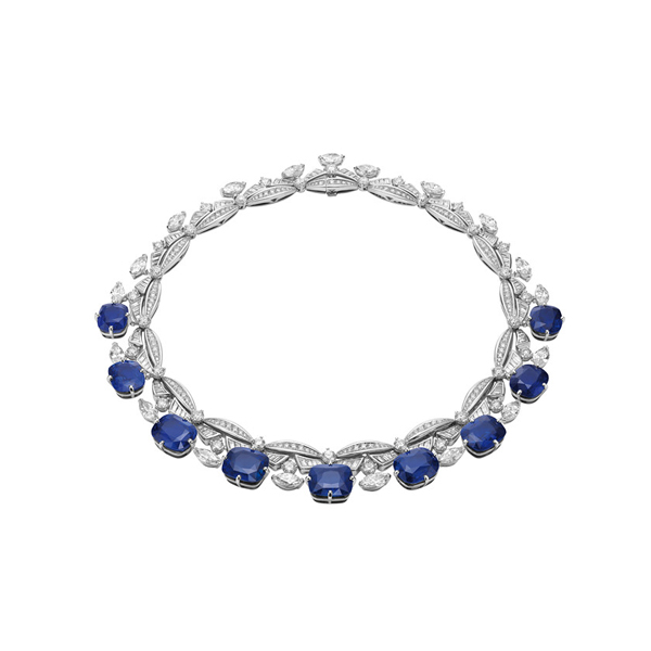 宝格丽高级珠宝系列铂金蓝宝石项链