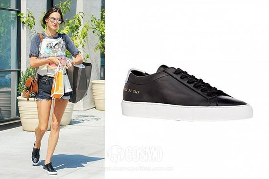 Alessandra Ambrosio   Common Project Learger Achilles Low-Top