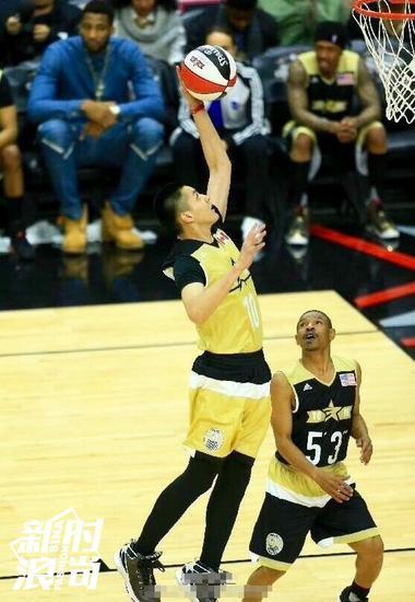 吴亦凡参加NBA名人赛