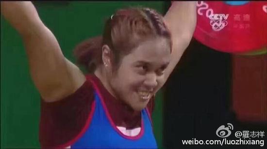 罗志祥撞脸泰国举重运动员