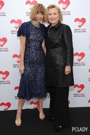 希拉里与Anna Wintour