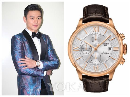 宁泽涛佩戴天梭杜鲁尔街系列腕表