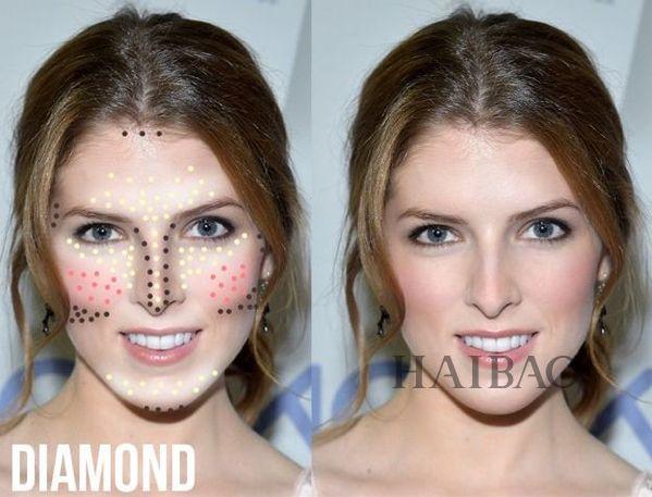 钻石脸修容
