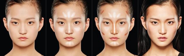 圆脸的小脸画法