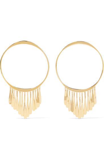 Aurélie Bidermann Vera 镀金圈形耳环