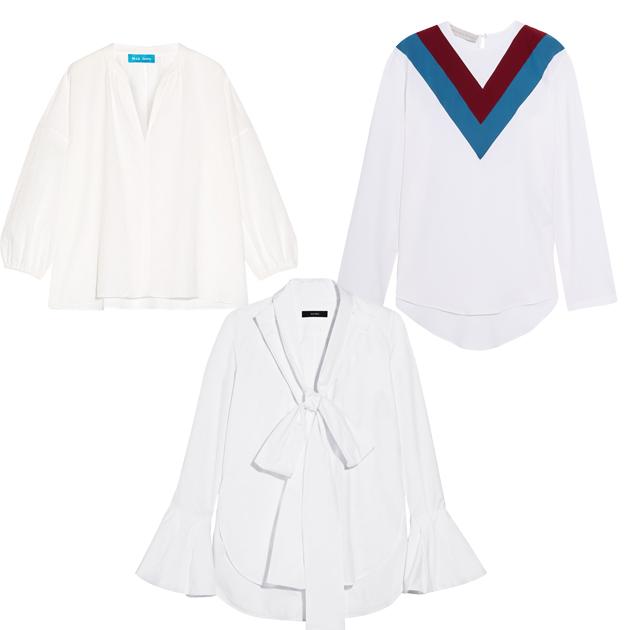 白色荷叶袖单品推荐