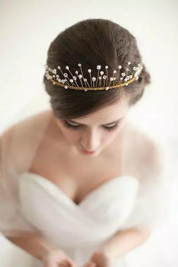 美瞎你双眼13款闪耀精致的新娘发箍