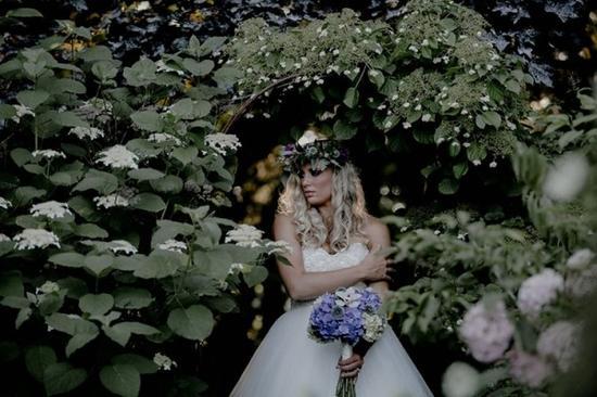 森林系风格婚礼田园仙气新娘