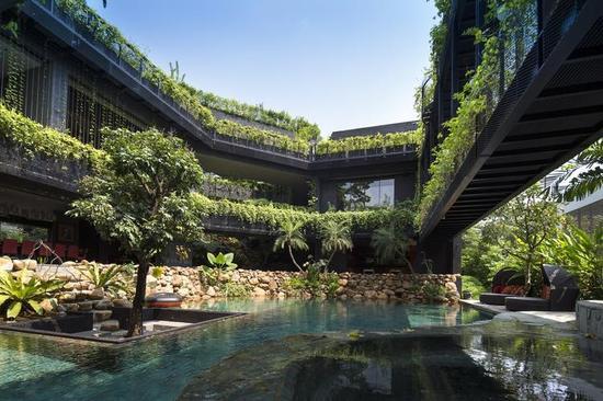 庭院中的水体设计(来源:gooood)