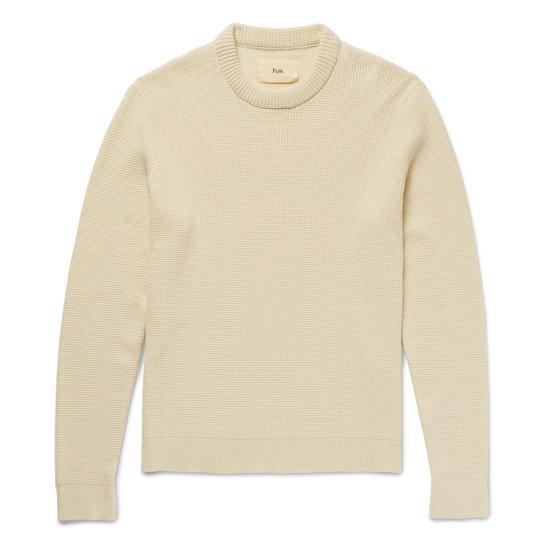 米白色的纯色毛衣经典百搭