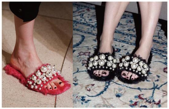 Miumiu 珍珠羊毛拖鞋2