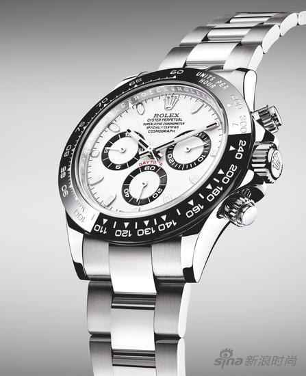 劳力士蚝式恒动宇宙计型迪通拿904L 钢腕表