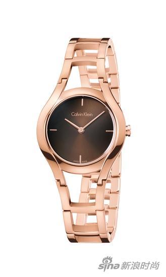 Calvin Klein class珍享系列女士腕表咖啡色表盘玫瑰金表带 RMB 2300