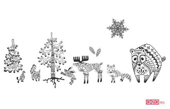 心思巧妙地将小动物们排列成经典格纹,做到了沉稳与萌趣的完美结合