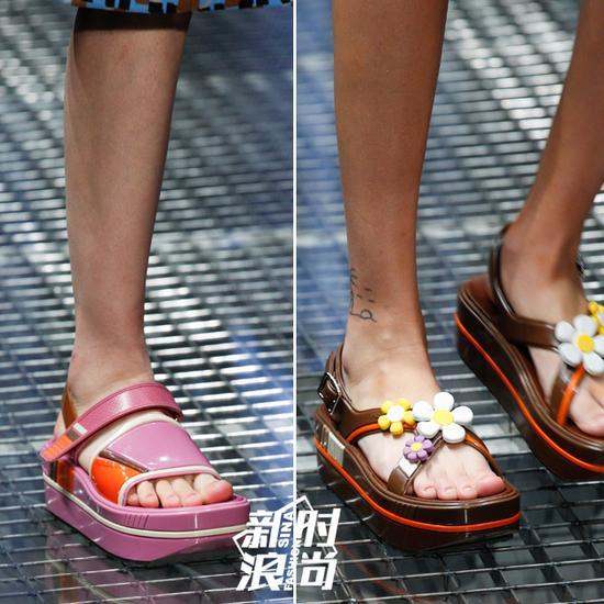 Prada的厚底鞋