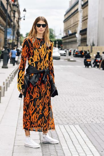 鞋时尚编辑Veronika Heilbrunner经常这样穿